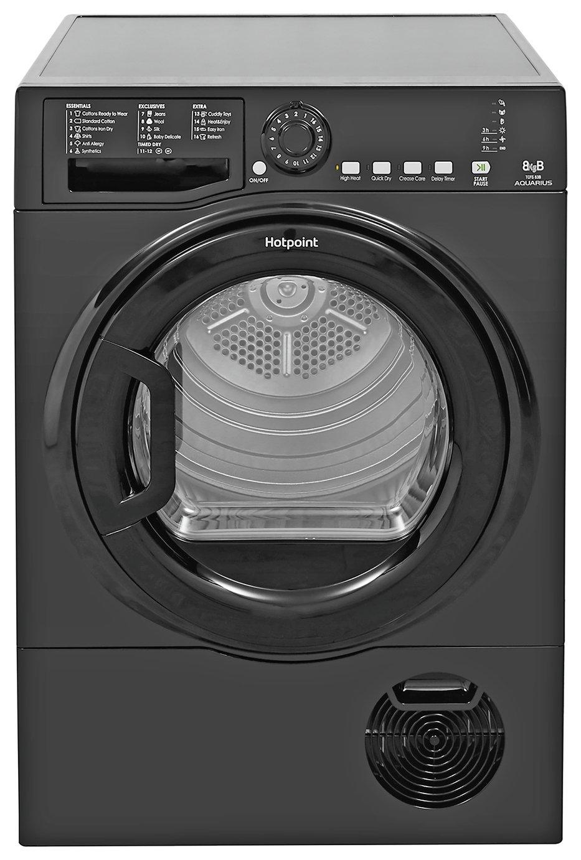 Hotpoint TCFS83BGK 8KG Condenser Tumble Dryer - Black