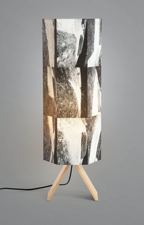 Habitat Whiteleaf Printed Column Floor Lamp - Black & White