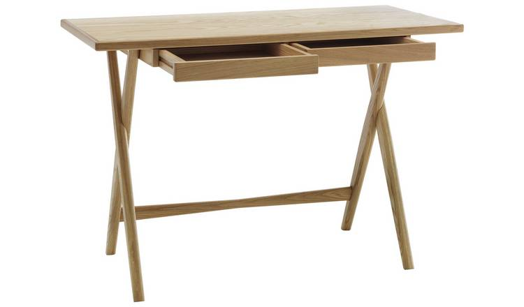 Habitat Roscoe Oak Desk with 2 Drawers