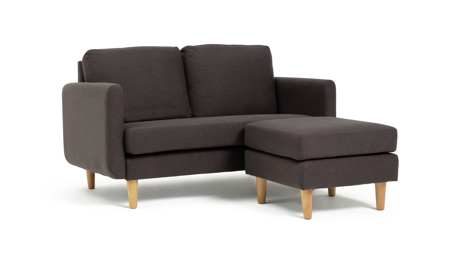 Argos Home Remi 2 Seater Fabric Chaise in a Box - Charcoal