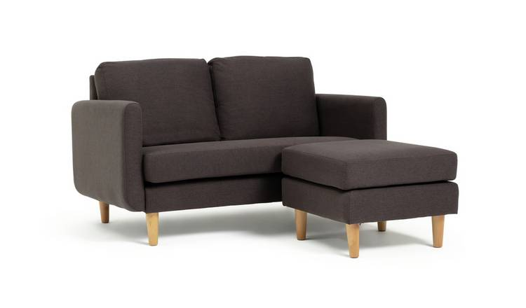 Remarkable Buy Argos Home Remi 2 Seater Fabric Chaise In A Box Charcoal Sofas Argos Uwap Interior Chair Design Uwaporg