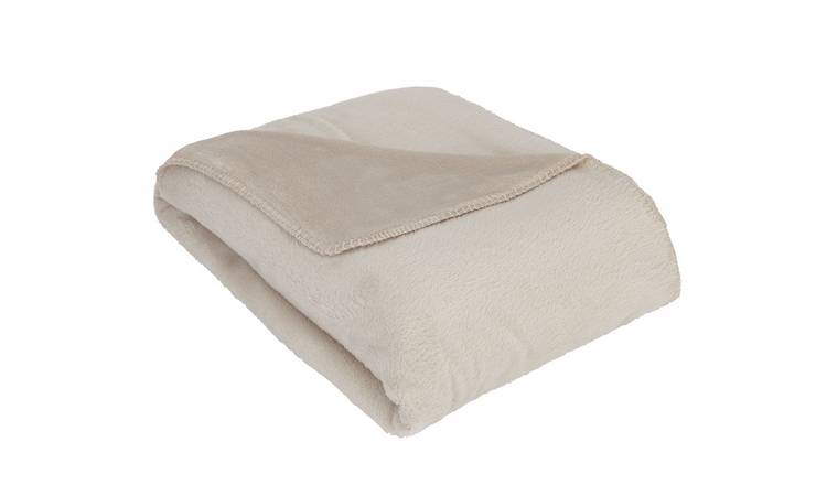 Argos Home Supersoft Fleece Throw - Latte