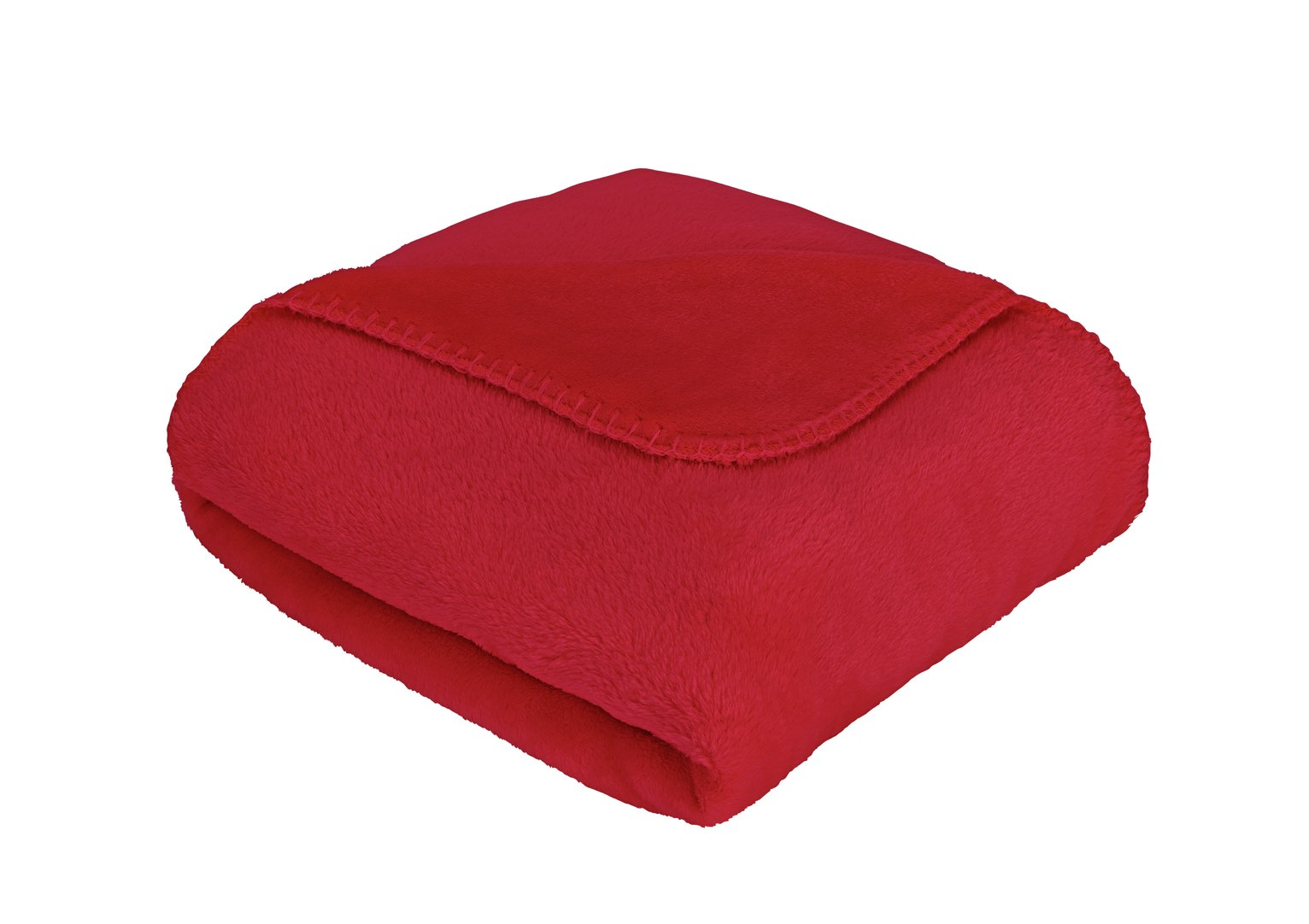 Argos Home Supersoft Fleece Throw - Red