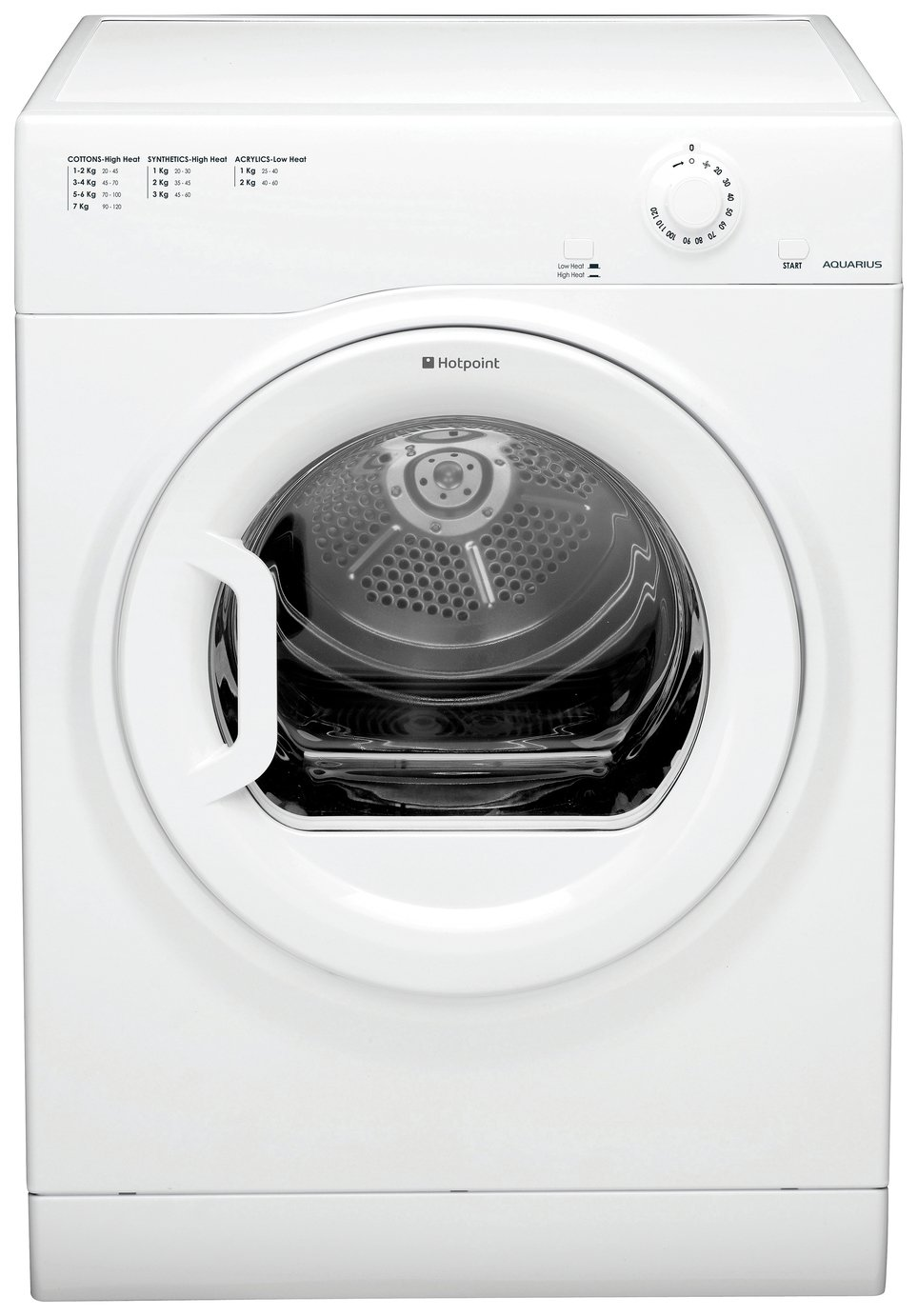 Hotpoint TVFM70BGP 7KG Vented Tumble Dryer - White