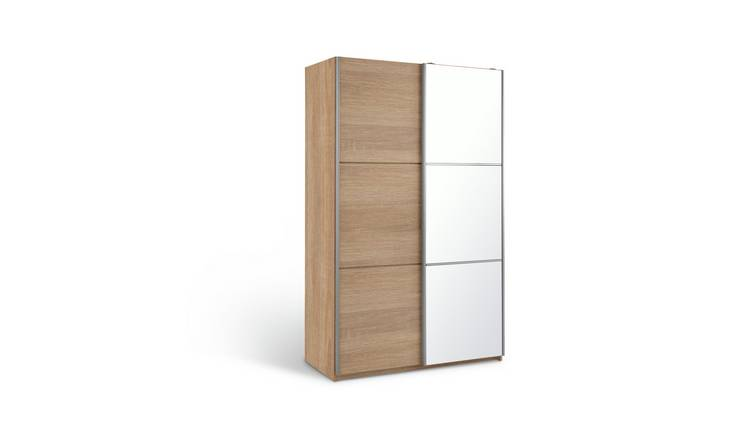 Habitat Holsted Small Oak Effect & Mirror Wardrobe