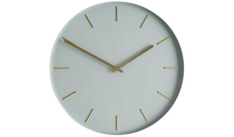 Habitat Bourke Metal Wall Clock - Grey