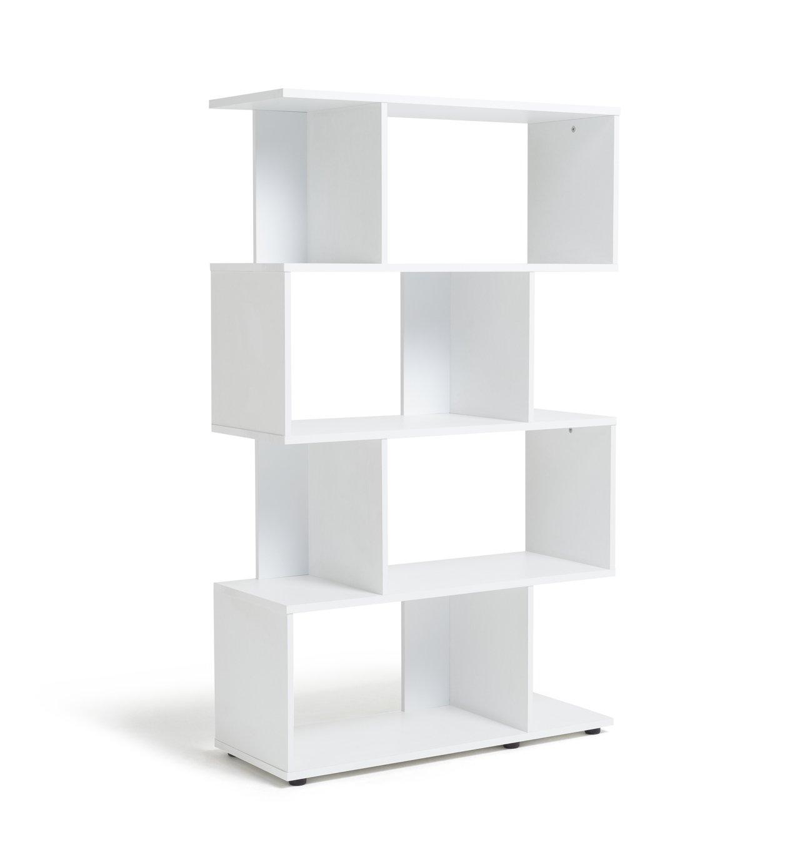 Habitat Hayward 5 Shelf Bookcase - White Gloss