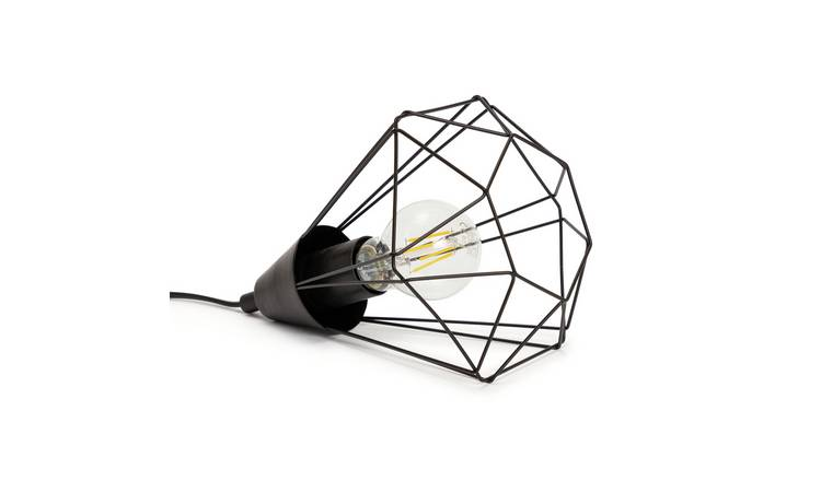 Habitat Kanso Cage Table Lamp - Black