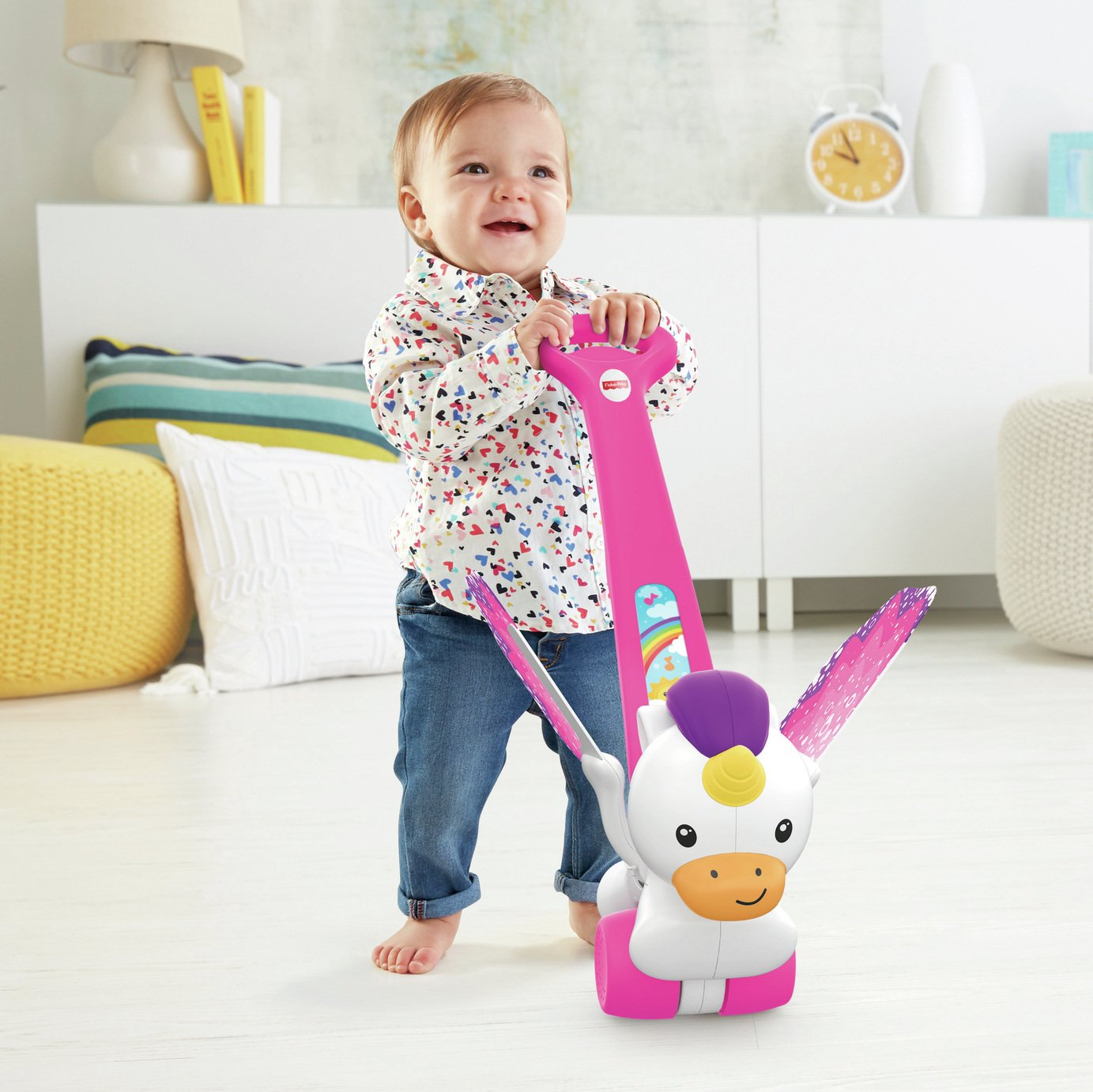 Fisher-Price Push and Flutter Unicorn