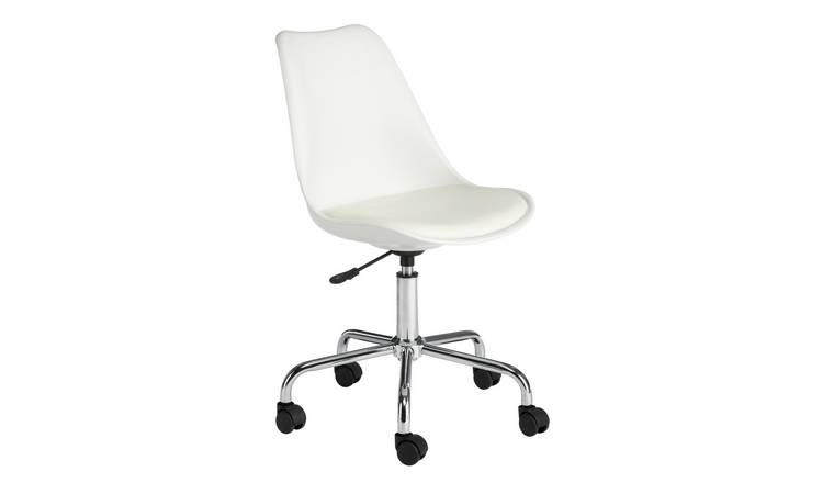 Habitat Ginnie Office Chair - White