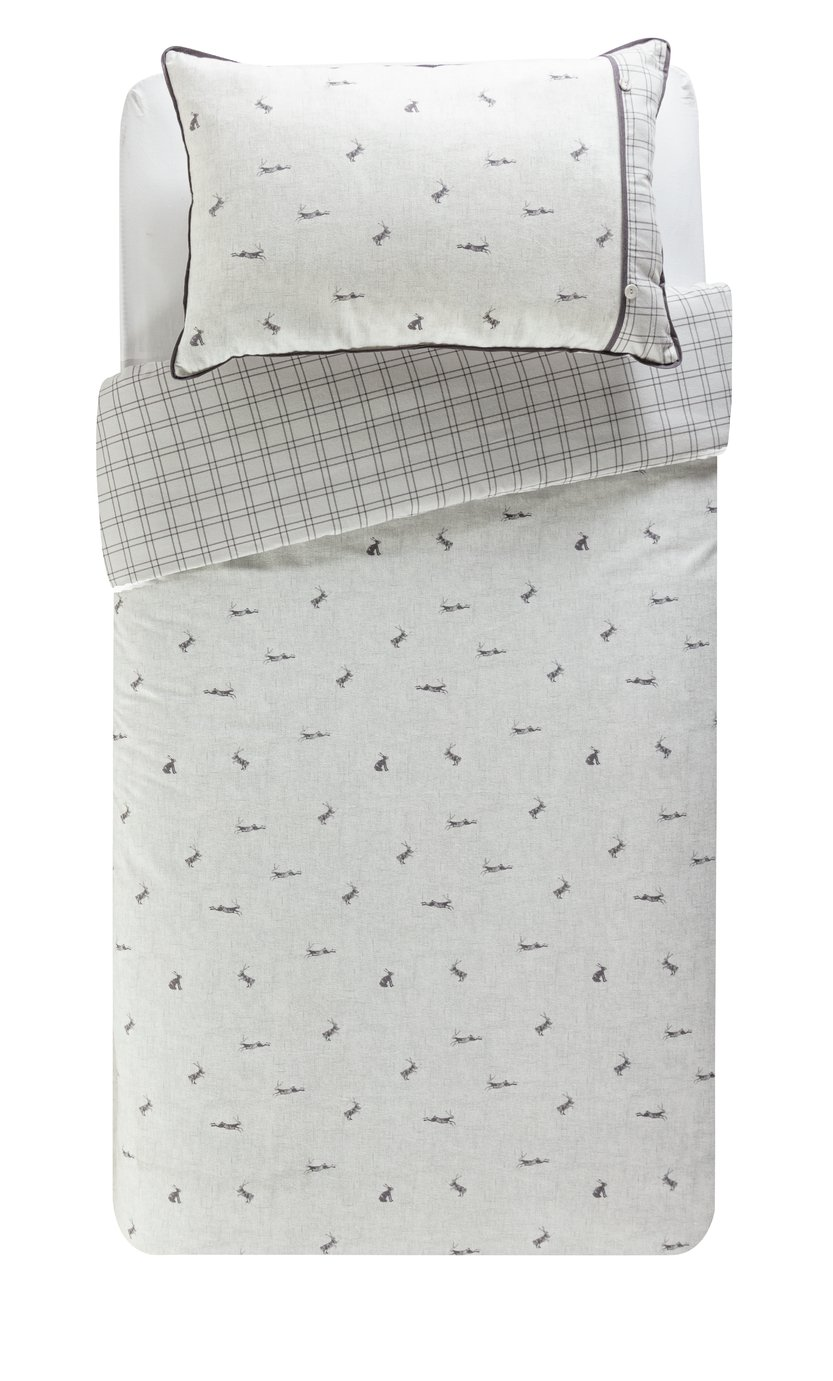 Argos Home Leaping Hare Bedding Set - Single