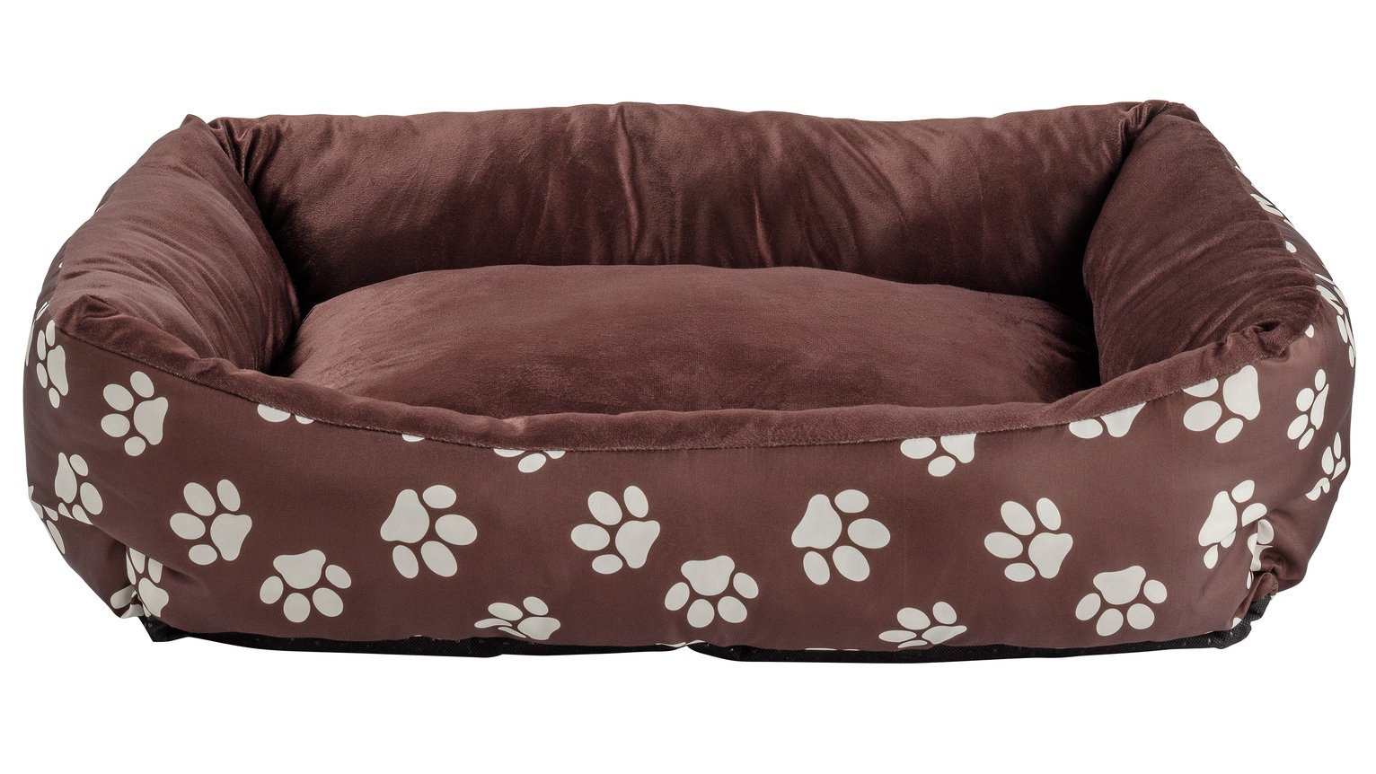Paw Print Square Pet Bed - Medium