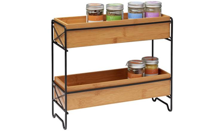 Argos Home Bamboo Wood Spice Rack