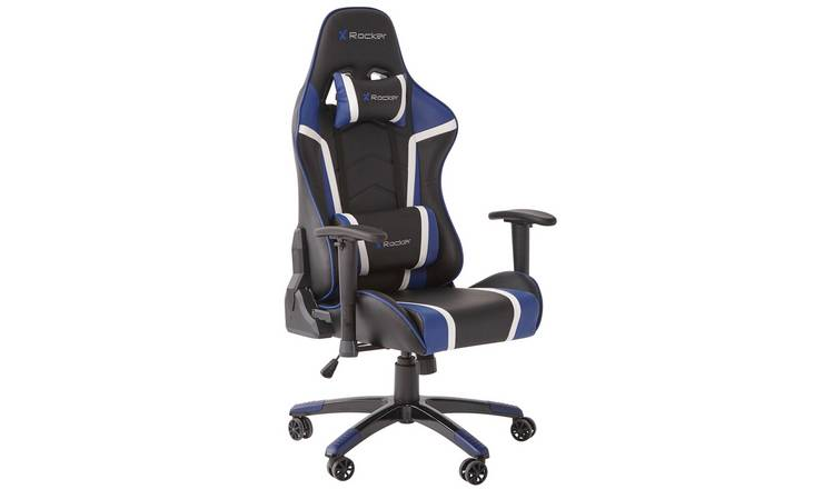 X Rocker Agility Faux Leather Ergonomic Gaming Chair - Blue