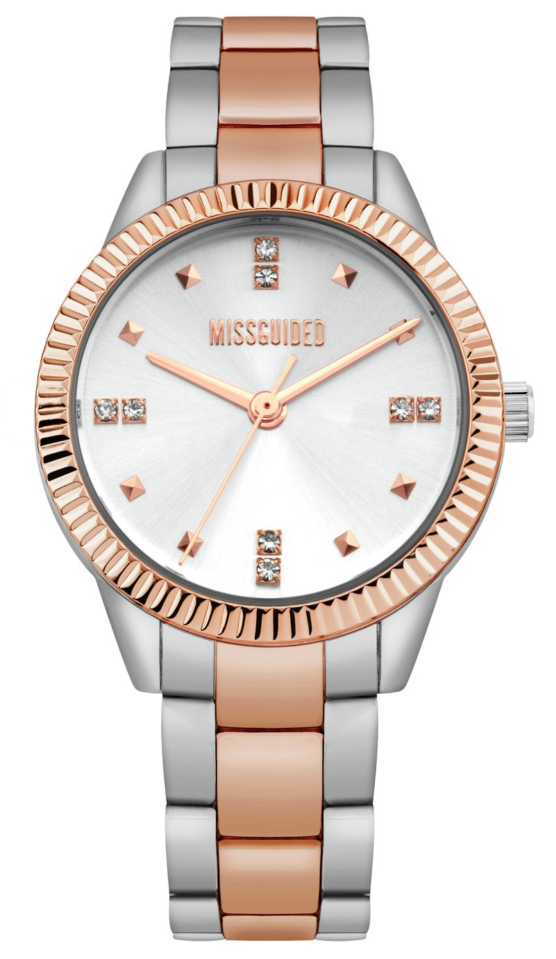Missguided Silver Coloured Bracelet Watch