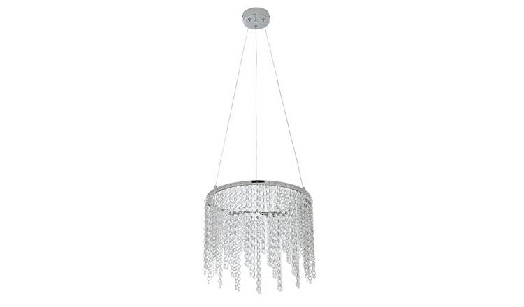 Argos Home Sophie 6 Light Ceiling Fitting Chrome