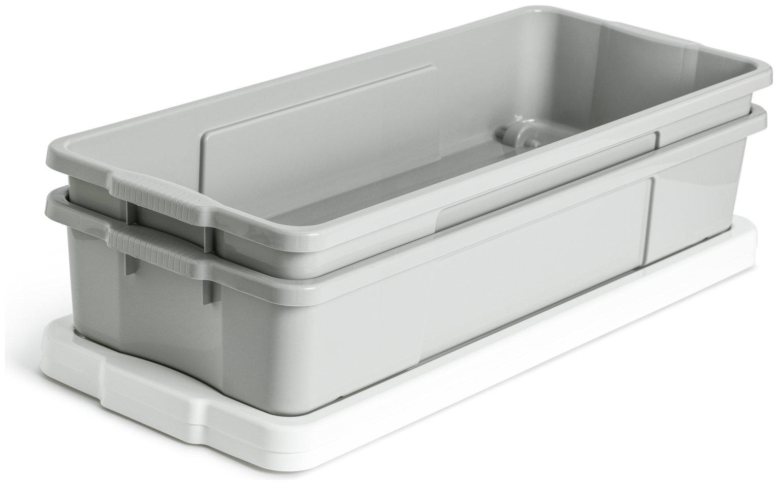 Argos Home Set of 2 Underbed Storage Box - Grey