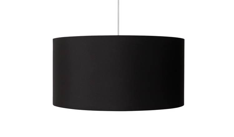 Argos Home Oversized Metallic Shade - Chrome & Black