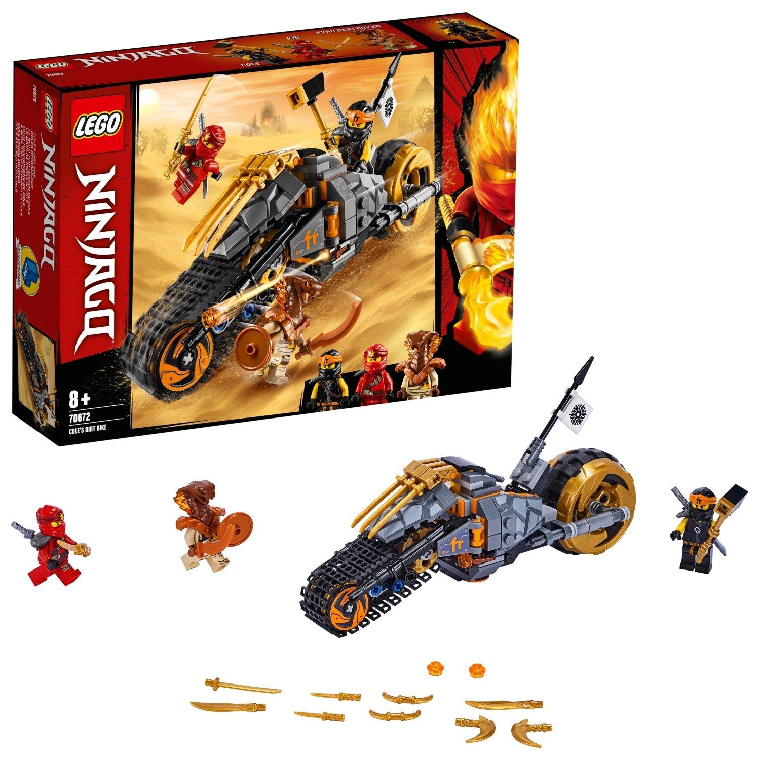 LEGO Ninjago Cole's Dirt Bike Playset - 70672