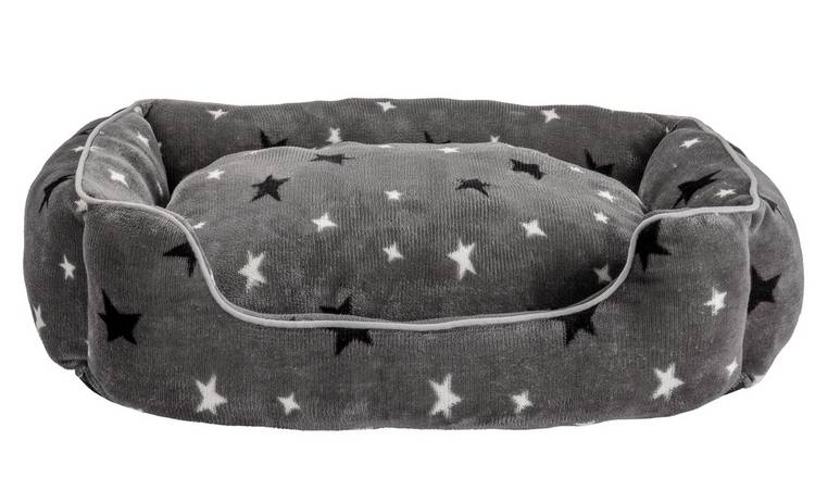 Stars Plush Square Bed - Medium