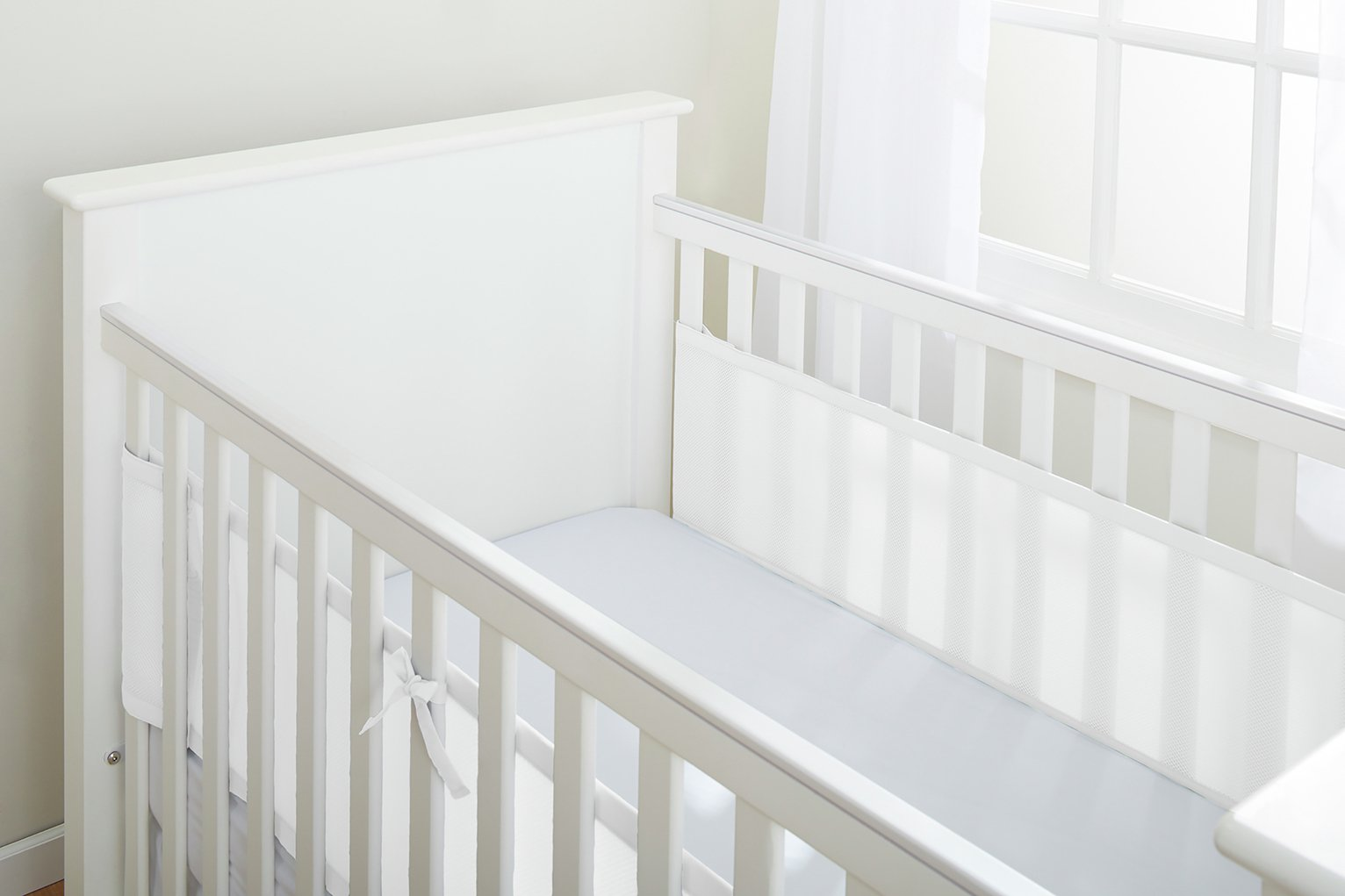 BreathableBaby 2 Sided Cot Liner - White