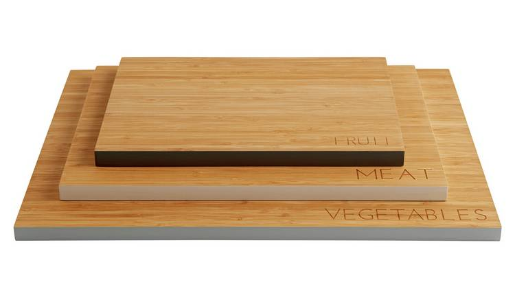 Argos Home Bamboo Chopping Boards - Pack of 3