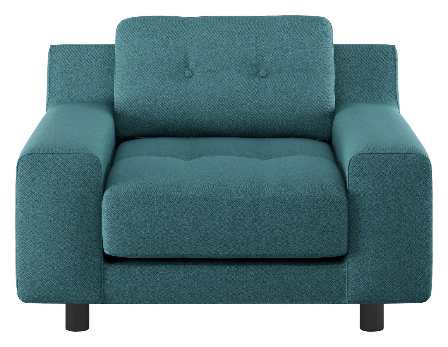 Habitat Hendricks Teal Fabric Armchair