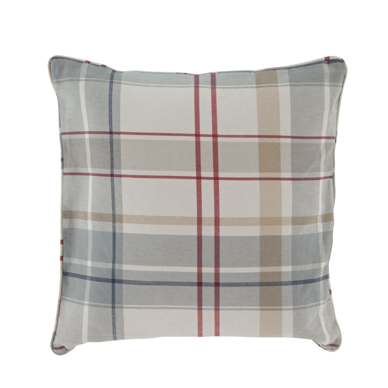 Argos Home Printed Check Cushion - Blue & Red