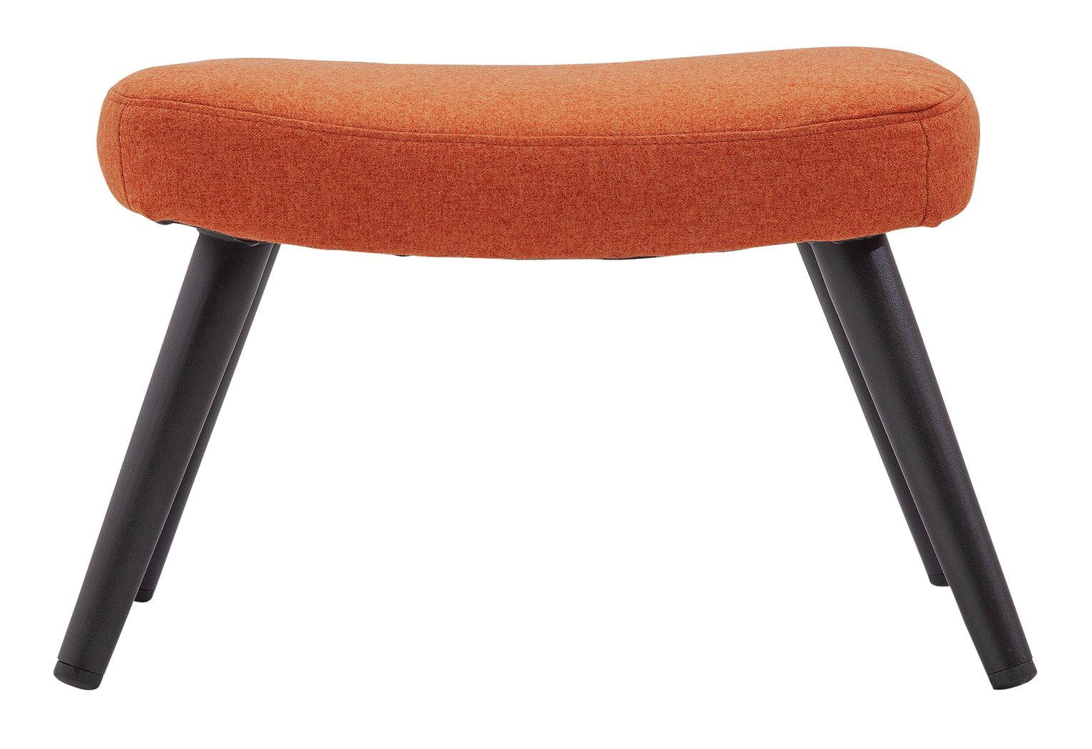 Argos Home Ollie Fabric Footstool - Orange