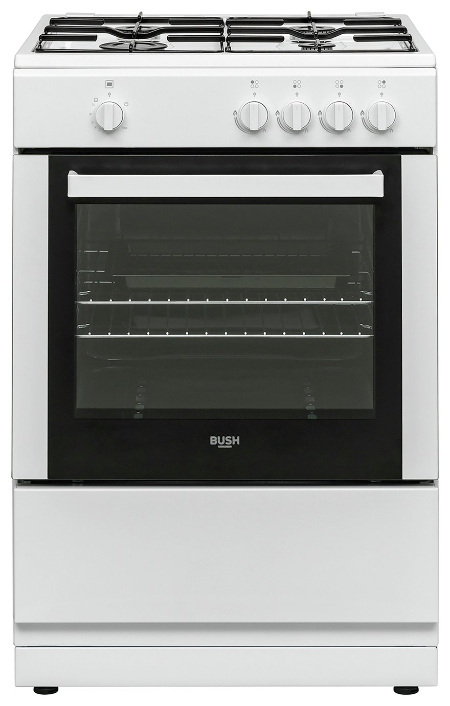 Bush BGC60SWX 60cm Single Gas Cooker - White
