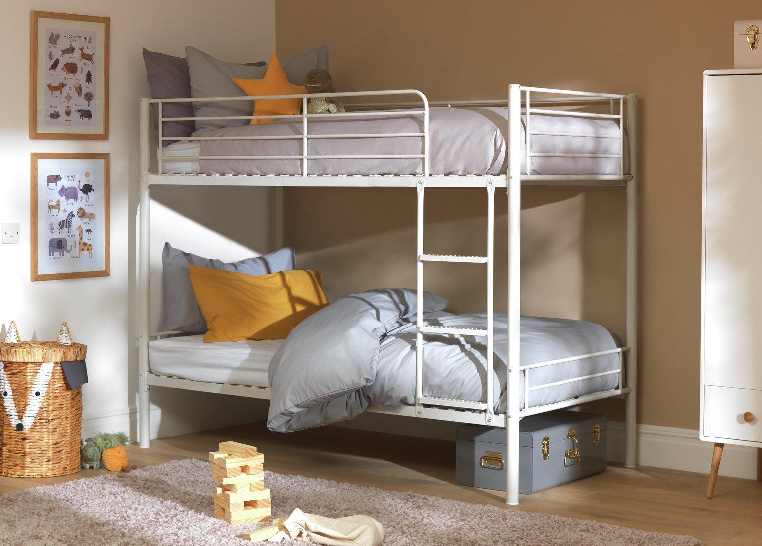Argos Home Mason Metal Bunk Bed Frame - White