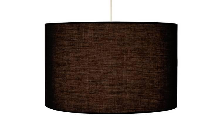Buy Argos Home Large Drum Shade Jet Black | Lamp shades | Argos