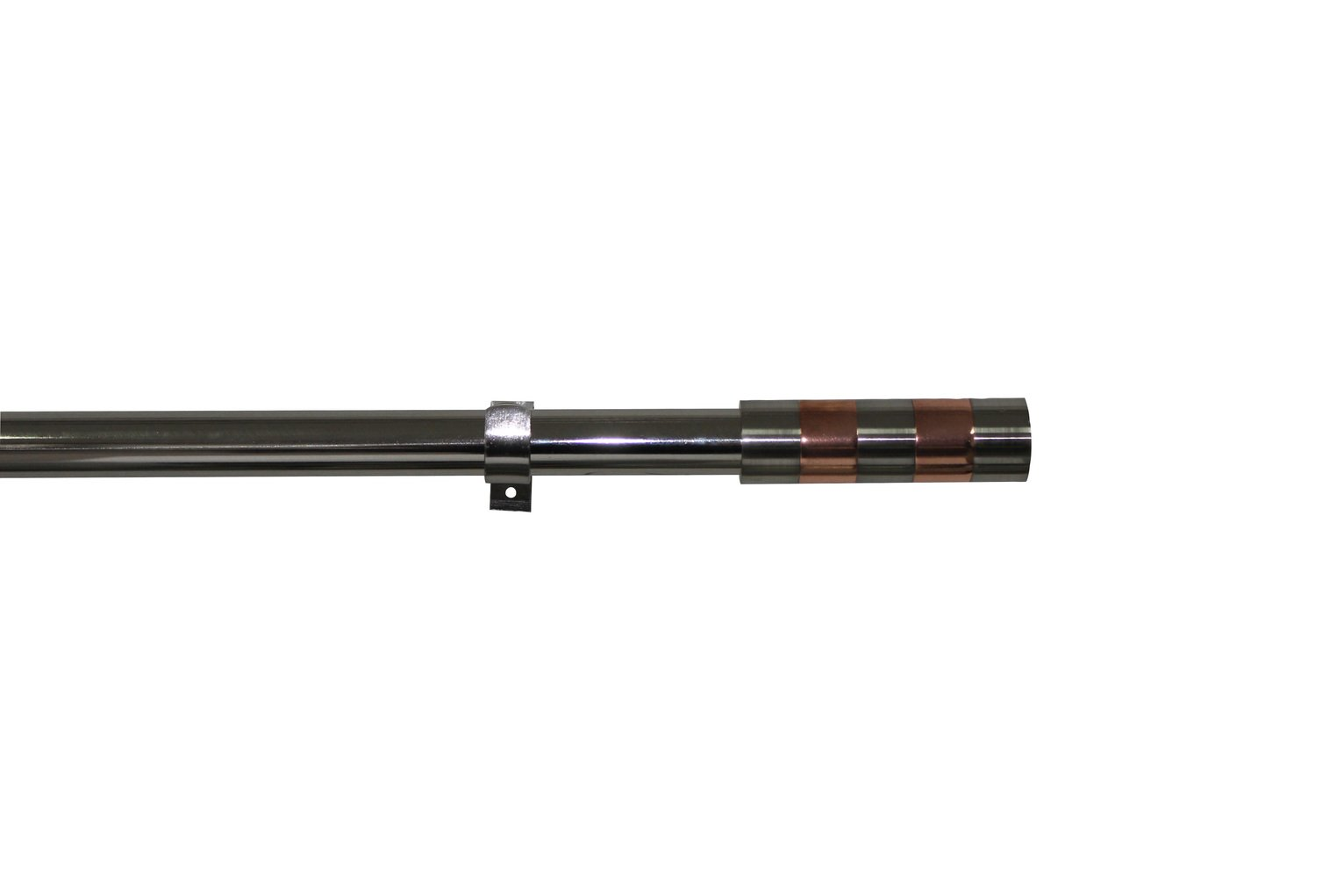 Argos Home Ext Contrast Band Curtain Pole - Silver & Copper