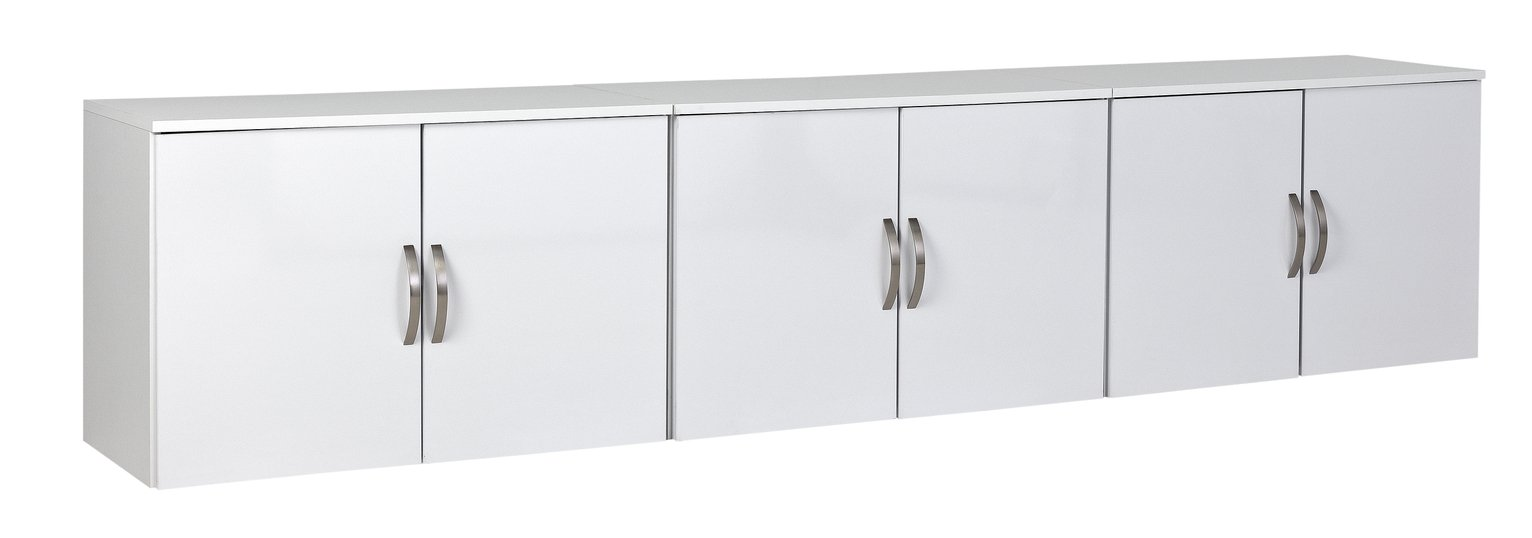 Argos Home Cheval Gloss Overbed Cupboards - White