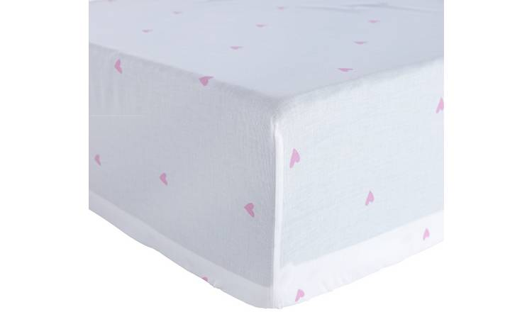 Argos Home Hearts Fitted Sheet - Toddler