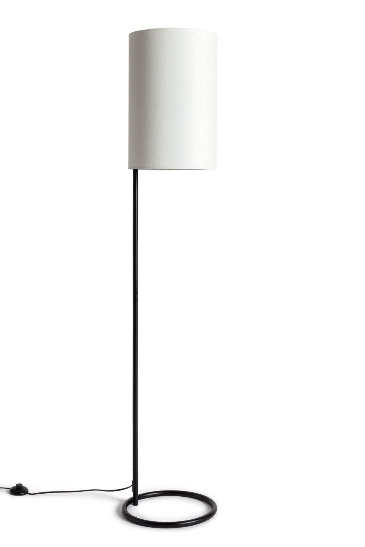 Habitat Narr Metal Shade Floor Lamp - Black and White