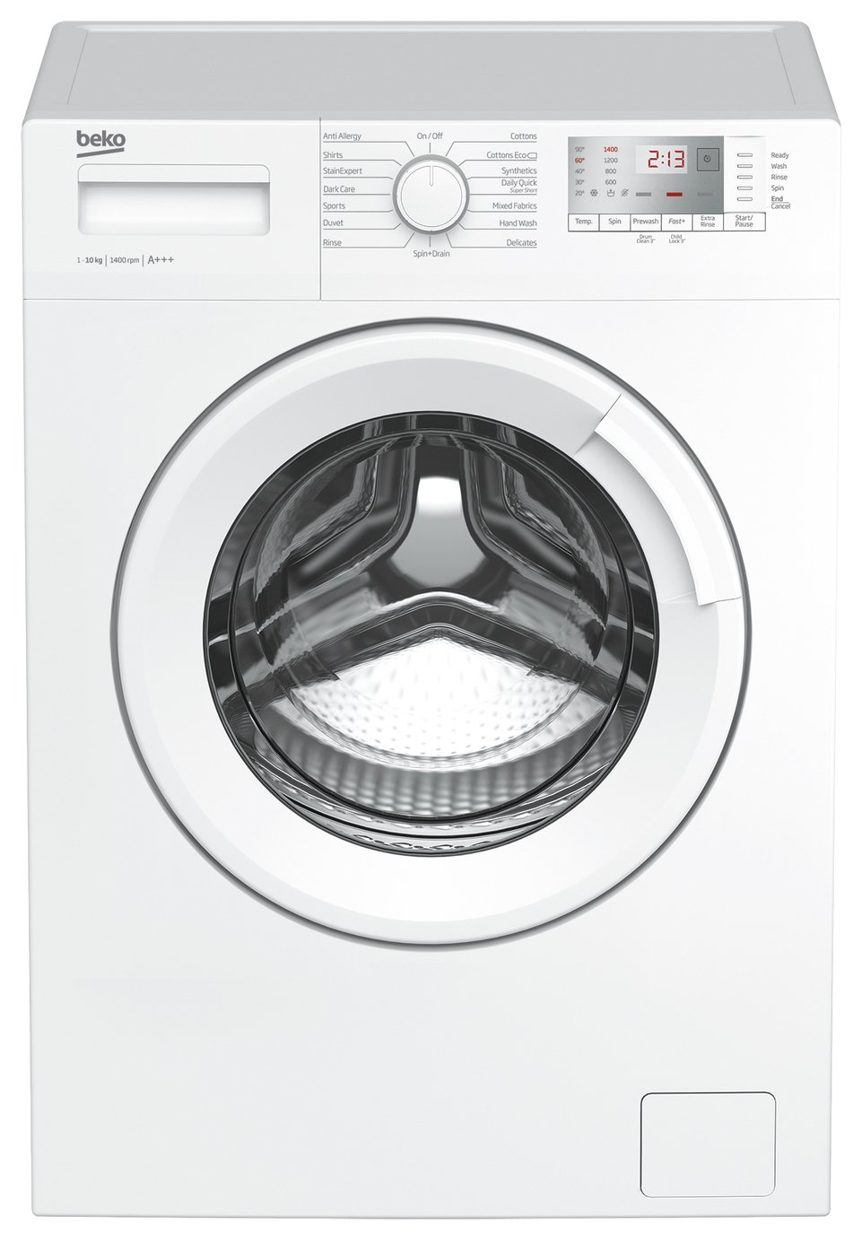 Beko WTG1041B1W 10KG 1400 Spin Washing Machine - White