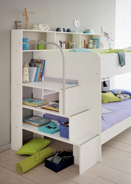 Parisot Bibop Bunk Bed with Step Storage - White