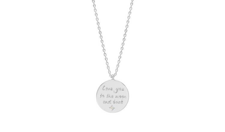 Amelia Grace Love You to the Moon and Back Pendant Necklace