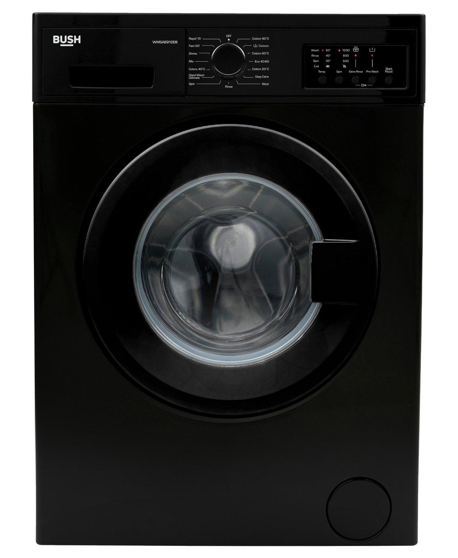 Bush WMSAE912B 9KG Washing Machine - Black