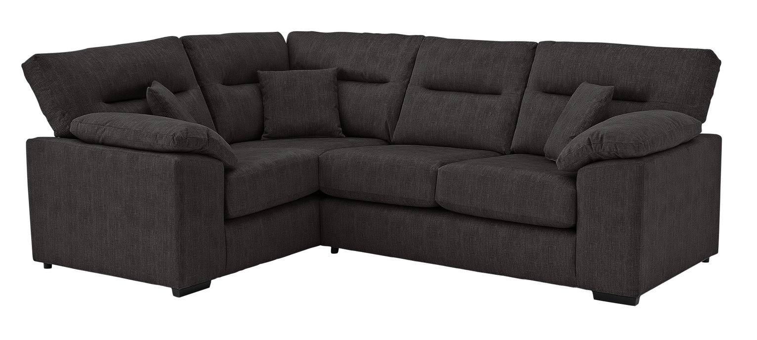 Argos Home Donavan Left Corner Fabric Sofa - Charcoal