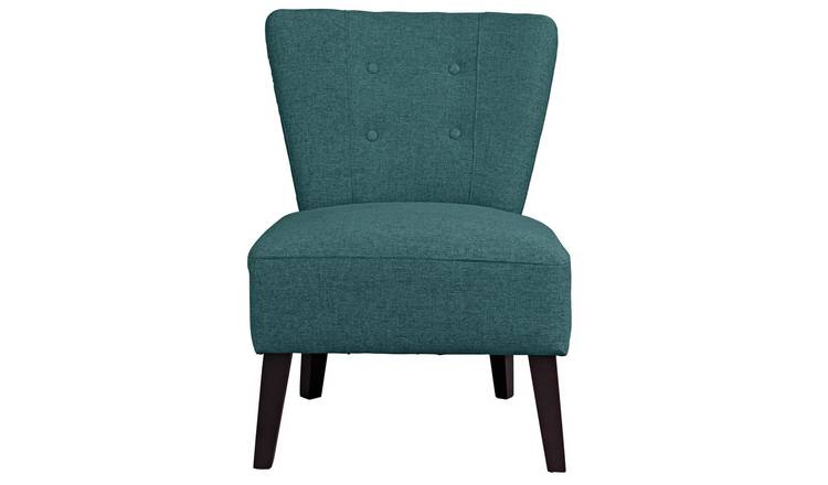Habitat Delilah Fabric Cocktail Chair - Teal