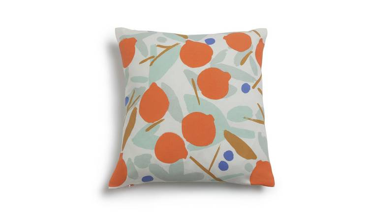 Habitat Pomegranate Patterned Cushion - Multicoloured