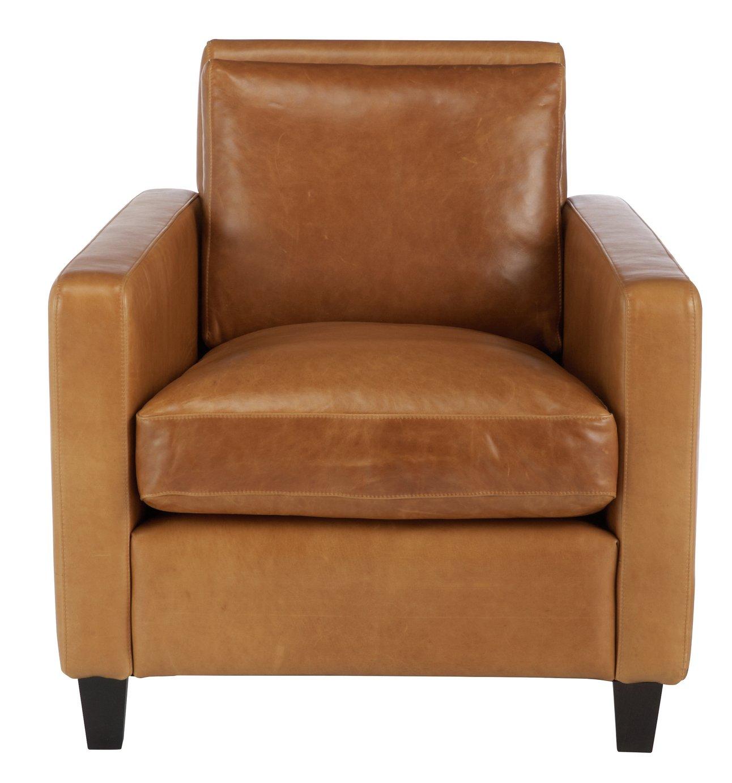 Habitat Chester Leather Armchair - Mid Tan