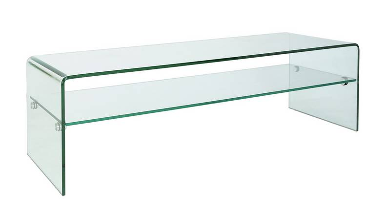 Habitat Gala TV Unit - Clear Glass