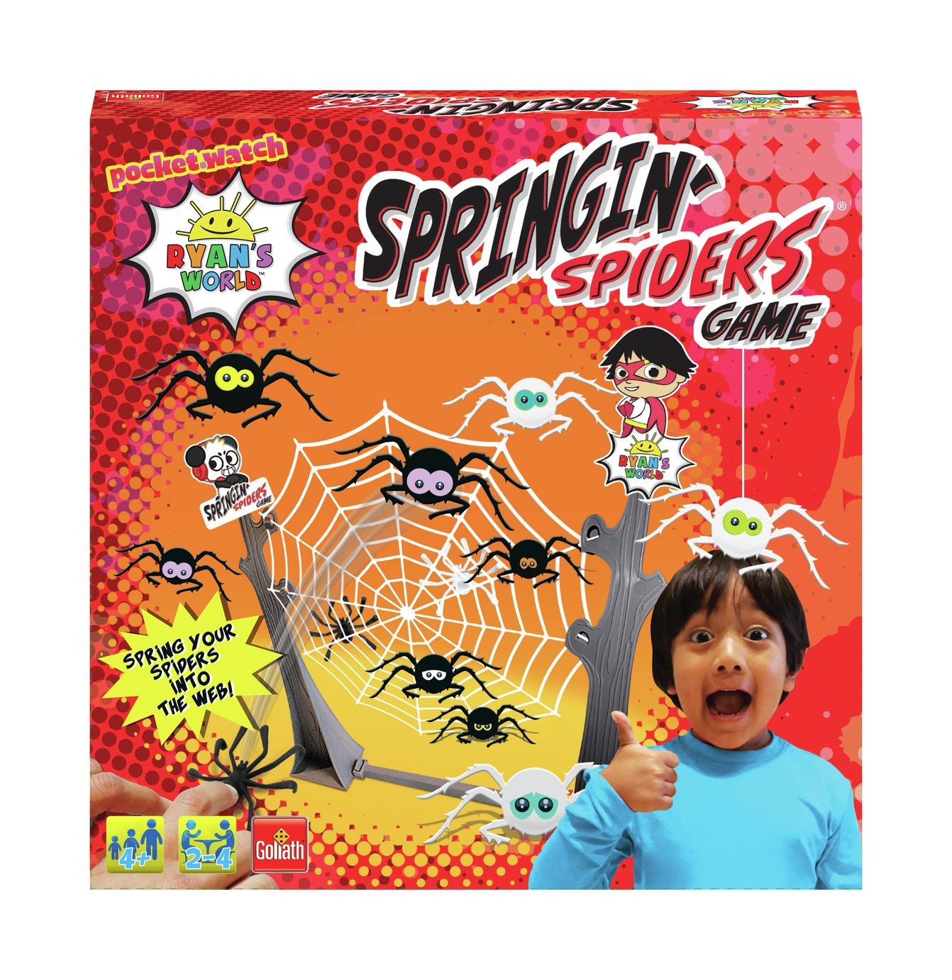 Goliath Games Ryan's World Springing Spiders