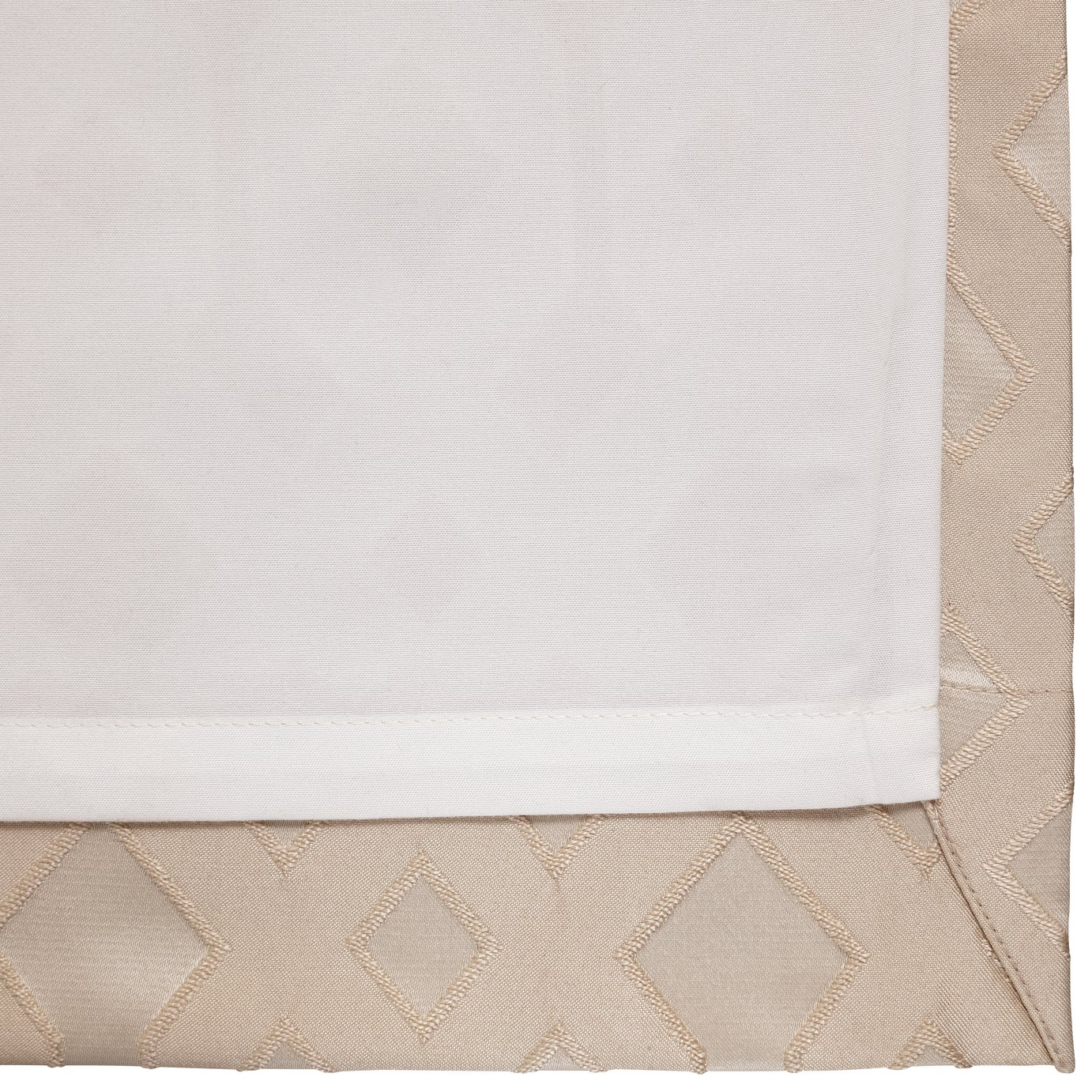 Argos Home Jacquard Geo Lined Eyelet Curtains - Champagne