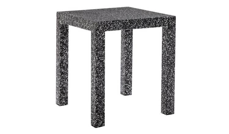 Habitat Gingko Black And White Metal Side Table