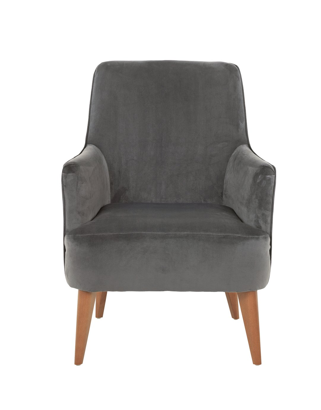 Argos Home Molly Velvet Accent Chair - Charcoal