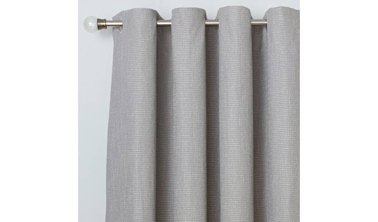 Argos Home Weave Blackout Lined Eyelet Curtains - Grey